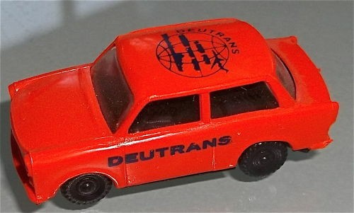 orange DEUTRANS Trabant Trabbi orange H0 1:87 #HN4 å