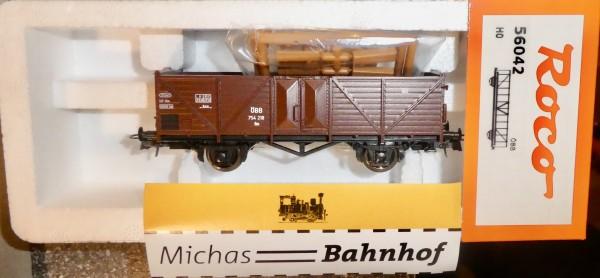 ÖBB offener Güterwagen mit Ladegut 754 218 Roco 56042 H0 1/87 OVP NEU #HC2