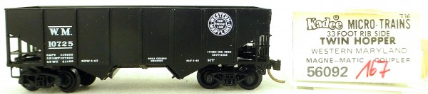 Micro Trains Line 56092 Western Maryland 10725 33' Twin Hopper OVP 1:160 #K167 å