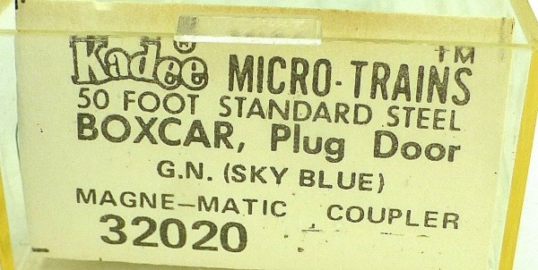 50´ Standard Boxcar GREAT NORTHERN SKY BLUE Micro Trains Line 32020 N 1:160 C å*