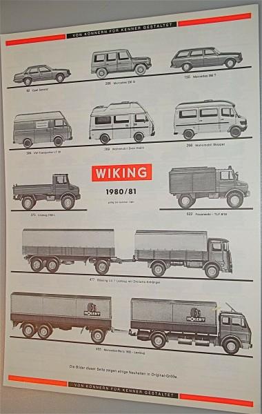 WIKING Katalog Programm 1980 81 neuwerti å *