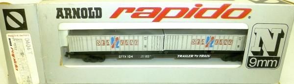 Sea Land Trailer Train TT Container GTTX ARNOLD rapido 0406T N 1:160 OVP HU3 å *