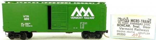 Micro Trains Line 20200 Vermont Railways 401 40' St. Boxcar 1:160 OVP #H102 å
