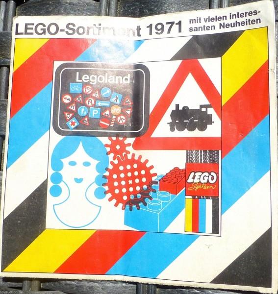 Lego Sortiment 1971 LEGO Katalog Faltblatt å