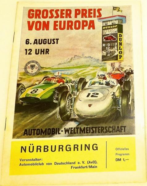 6. August Grosser Preis v Deutschland AvD WM Nürburgring PROGRAMMHEFT VII12 å *
