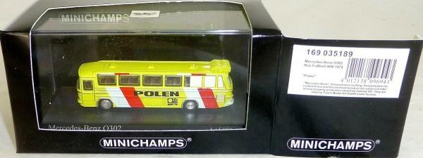 POLEN Fußball WM 1974 Mercedes Benz O302 Minichamps 1:160 OVP # µ