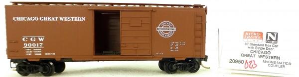 Micro Trains Line 20950 C.G.W. 91017 40' Standard Boxcar 1:160 OVP #H023 å