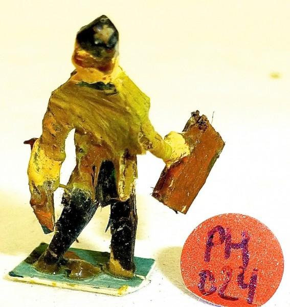 Mann mit Aktenkoffer Preiser (?) Holzfiguren 50er Jahre H0 1:87 PH054 å *
