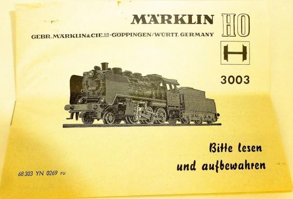 Märklin Anleitung Beschreibung 3003 68 303 YN 0269 ru å *