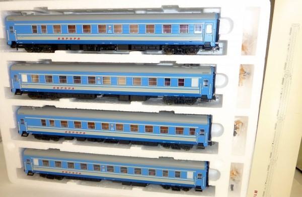 4 Weitstrecken Schlafwagen blau Aurora Ammendorf SZD H0 1:87 0213 LA1 å