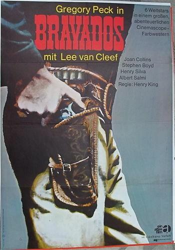 Bravados Gregory Peck Lee van Cleef Filmplakat å *