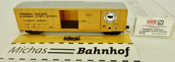 Terminal Railway Alabama 50' Rib Side Box Car Micro Trains Line 25160 1:160 OVP Q å