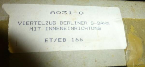 ET/EB 166 Viertelzug Berliner S-Bahn Bausatz ungebaut Woytnik A031-0 H0 HD2 å *