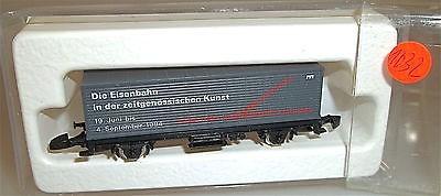 Eisenbahn zeitgenössische Kunst Containerwagen Märklin 8615 Spur Z 1/220 *1032*
