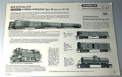 Nachtrag zum MÄRKLIN Katalog 47 D ungestempelt å *