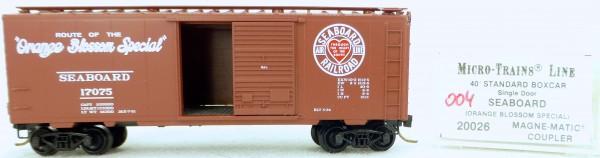 Micro Trains Line 20026 Seaboard 17075 40' Standard Boxcar 1:160 OVP #H004 å