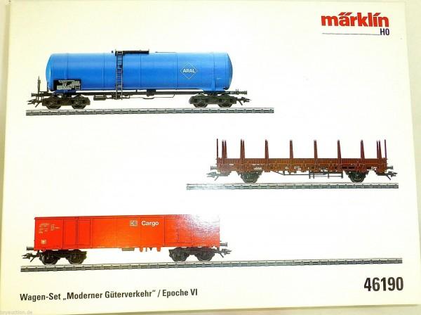 Moderner Güterverkehr Wagen Set Ep6 Märklin 46190 H0 1:87 OVP NEU µ
