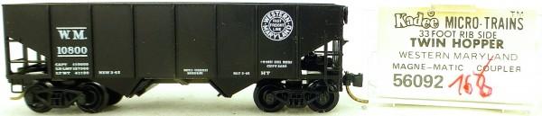 Micro Trains Line 56092 Western Maryland 10800 33' Twin Hopper OVP 1:160 #K168 å