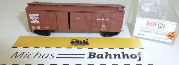 MICRO TRAINS 40010 C.N. 582593 40' Outside Bradced Boxcar 1 1/2 N 1:160 OVP #15L å