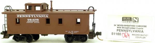 Micro Trains Line 51160 Pennsylvania 981678 34' CABOOSE OVP 1:160 #K064 å
