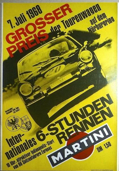 7. Juli 1968 Grosser Preis der Tourenwagen Nürburgring PROGRAMMHEFT å IV04 *
