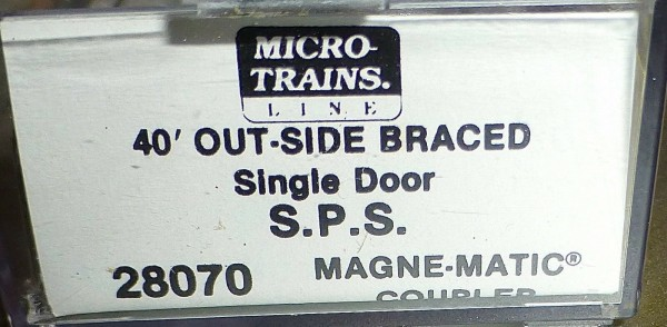 40´ Outside Braced Boxcar S.P.S. 10012 Micro Trains Line 28080 N 1:160 C å*