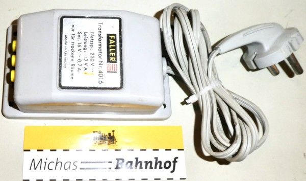 Faller 4016 Transformator Trafo å