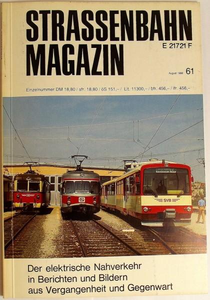 Straßenbahn Magazin Heft 61 August 1986, S. 161-240 Franckh'sche Verlagshandlung