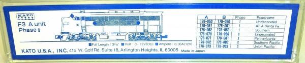 KATO 176-073 F3A Phase II Union Pacific 905 OVP N 1:160 HS5 å *