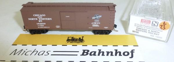 MICRO TRAINS 39160 Chicago NW 142200 40' Wood Sheathed Boxcar N 1:160 OVP #23L å