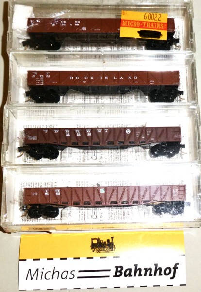 Micro Trains Line 60022 Rock Island 4-Set 50' Composite Gondolas N 1:160 T20 å