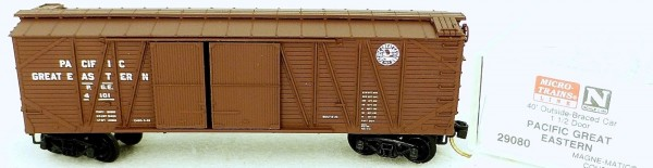 40´ Outside Boxcar PACIFIC GREAT EAST 4101 Micro Trains Line 29080 N 1:160 C å*