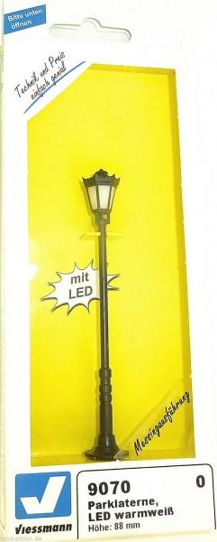 Parklaterne LED warmweiss 88mm hoch Viessmann 9070 SPUR 0 NEU OVP HG4 µ *