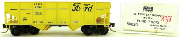 Micro Trains Line 56020 Ford Motor Co FRDX2353 33' Twin Hopper OVP 1:160 #K138 å