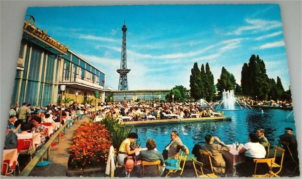 Messe Funkturm Berlin AK 1960 er Jahre ungelaufen å