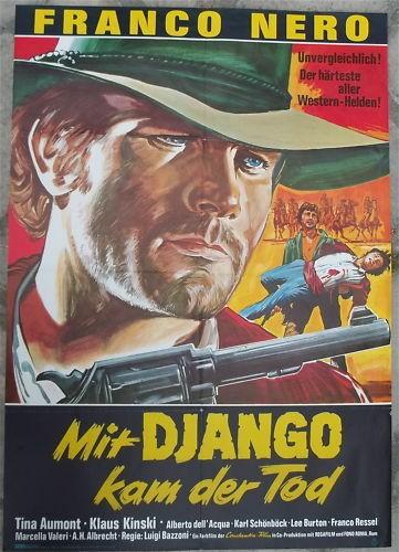 Mit Django kam der Tod Franco Nero Filmplakat