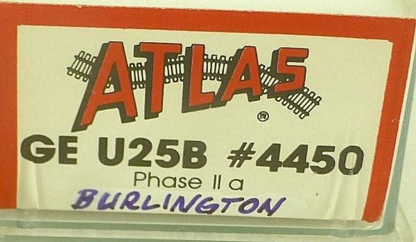 ATLAS 4450 KATO GE U25B Phase IIa Burlington 105 Diesellok N 1:160 OVP ∑ å *