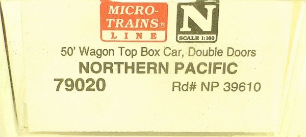 Micro Trains Line 79020 Northern Pacific 39610 50´ Box Car 1:160 OVP #E å *