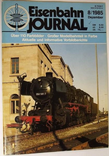 Eisenbahn Journal 8/1985 Dezember, Vom Adler zum ICE