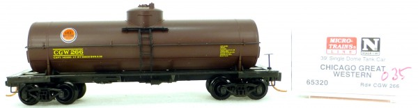 Micro Trains Line 65320 CGW 266 39' Single Dome Tank Car 1:160 OVP #i035 å