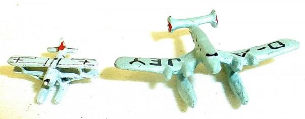 2x Flugzeug D-A JEY zu Schiffsmodell 1:1250 SHPI11 å *