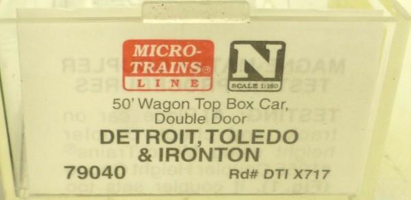 Micro Trains Line 79040 Detroid Toledo Ironton x717 50´ Box Car 1:160 OVP #E å *