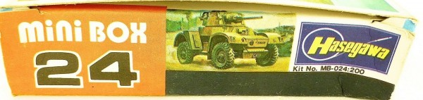 Hasegawa MB-024 mini box Armoured Car Daimler Mk.II British 1:76 OVP HC4 å *