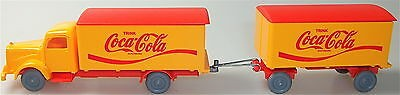 Coca Cola Mercedes 5000 Hängerzug orange rot IMU H0 1:87 #59# å
