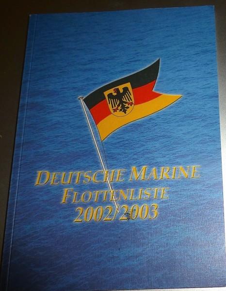Deutsche Marine Flottenliste 2002/2003 HJ3 å *