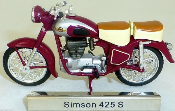 Simson 425S Motorrad Moped 425 S rot DDR 1:24 ATLAS 7168101 NEU OVP LA2 µ *