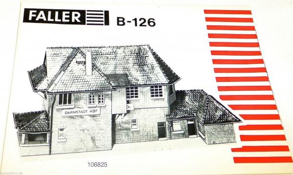 FALLER Anleitung für B-126 # å