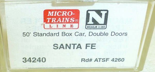 Micro-Trains Line 34240 Santa Fe 50' Standard Box Car N 1:160 A å *