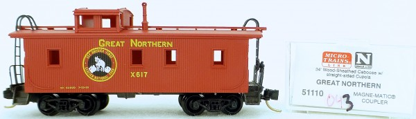 Micro Trains Line 50110 Great Northern x617 34' CABOOSE 1:160 OVP #K043 å