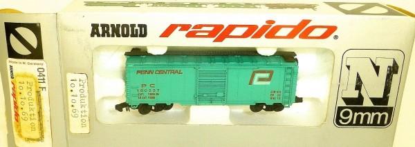 Penn Central türkis Güterwagen ARNOLD rapido 0411F OVP HU3 å *